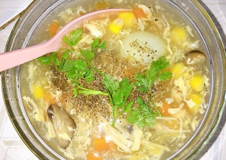 Cách nấu súp gà nấm ngon