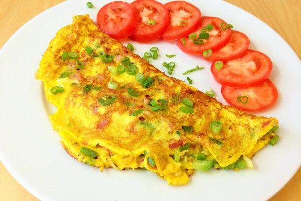 trứng chiên thịt băm